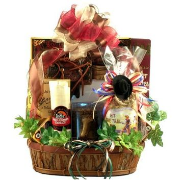 Giddy Up! - Horse Themed Gift Basket For Guys Or Girls Who Love Horses And Snacks, With Horse Coffee Mug And Detailed Photo Frame, 8 Pounds