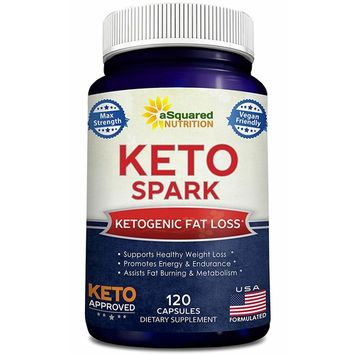 Keto Spark - Supplement Pills Approved for The Ketogenic & Paleo Diet (120 Capsules) - Helps Stay in Ketosis, Increase Energy & Focus - Caffeine & Ketones for Women & Men