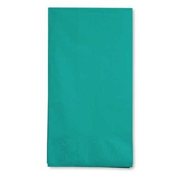 Creative Converting 95111 Tropical Teal Guest Towel, 3 Ply, Solid (12pks Case)