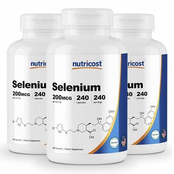Nutricost Selenium 200mcg, 240 Veggie Caps (3 Bottles) - Non-GMO, Gluten Free L-Selenomethionine …