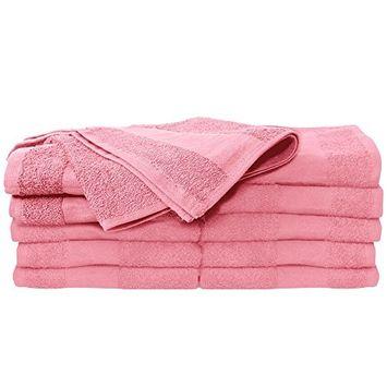 ForPro Premium Bleach Tough Pink Salon Towels, 24 Count