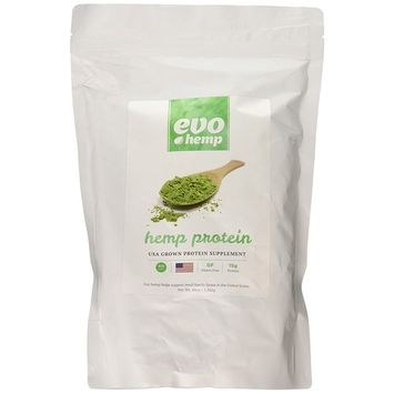 Evo Hemp 50% Protein Powder (3 lbs) U.S. Hemp Hearts, Plant Based Protein Supported by Raw Enzymes, Omega 3s and Omega 6s