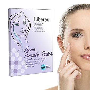 Liberex Acne Pimple Master Patch - 60 Dots Hydrocolloid Absorbing Dressing Bandages Cover, Φ12mm, 20 Dots x 3 Sheets