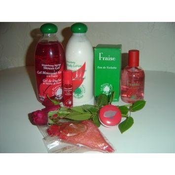 Yves Rocher Les Plaisirs Nature Strawberry Eau de Toilette 6-piece Gift Set for Women: Strawberry Eau de Toilette,100 ml/ Body Lotion, 400 ml/ bath-Shower gel, 400 ml/ Strawberry Concentrated Perfume, 7 gr./ Fruit Gloss, 8 ml/ Strawberry Bath Salt, 0.7 oz. FRANCE. HARD TO FIND.