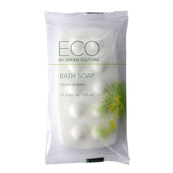 Eco by Green Culture Hotel Amenities Body Soap Bar, 1oz, 100 per case