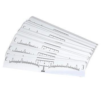 Anself 100Pcs Eyebrow Ruler Sticker Eyebrow Shaper Permanent Eyebrow Measurement Disposable Eyebrow Tattoo Stencil