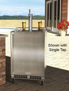 MARVEL Half-Barrel Stainless Steel Digital Freestanding Kegerator MO24BTSMRS