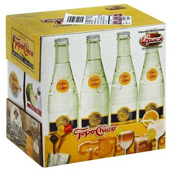 Topo Chico, Original Mineral Water 12 - 12oz, Glass Bottles (Pack Of 2)