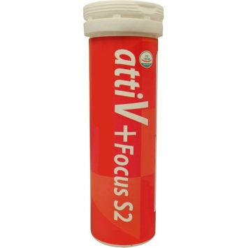 attiV Focus S2 Energy Vitamin Seltzer 10 Tablets Lemon Flavor, Improves Concentration & Stress Relie