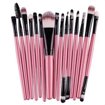 Exteren 20pcs Makeup Brush Set Professional Concealer Eyebrow Lip Blush Contour Foundation Cosmetic Brushes for Powder Liquid Cream