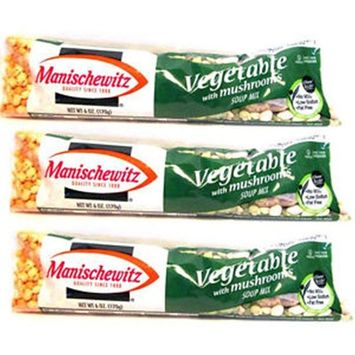 Manischewitz Vegetable with Mushrooms Soup Mix 6 ounce Bag Pack of 3