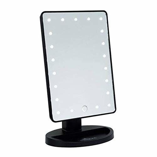 """DANIELLE LED Lighted Hollywood Mirror with Dimmer Black 10.5"""" x 6.75"""""""