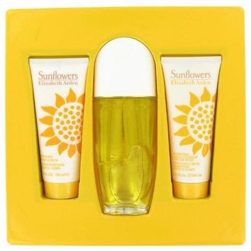 Elizabéth Ardén Sunflowêrs Perfŭme For Women Gift Set - 3.3 oz Eau De Toilette Spray + 3.3 oz Hydrating Cream Cleanser + 3.3. oz Body Lotion + a FREE Body Cream
