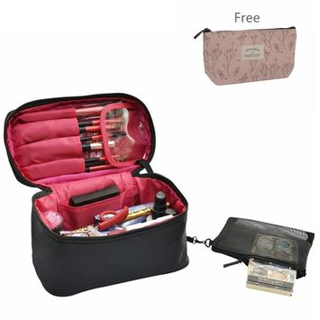Travel Makeup Case/Bags Small Size,CLOTHOBEAUTY Cosmetic Makeup Case/Bag Organizer for Women, Makeup Train Bag/Case, Travel Cosmetic Case, Big Capacity with Cute size, travel cube.