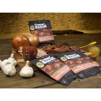 (8 count) PALEO Ranch Uncured Bacon Jerky, Honey Sriracha, 1.5 Ounce