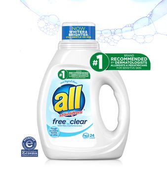 all Liquid Laundry Detergent Free Clear for Sensitive Skin