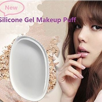 MSmask Transparent Makeup Puff Powder Blender Soft Silicone Gel Face Foundation Cosmetic Beauty BB CC