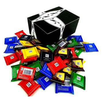 Ritter Sport Mini Chocolate Squares, 2 lbs in a BlackTie Box