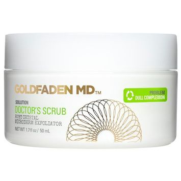 Microderm Daily Facial Exfoliator Doctor's Scrub for Face | w/ Ruby Crystals, Hyaluronic Acid & Seaweed Extract | Buffs & Reveals Brighter, Radiant, Healthier Looking Skin | NET WT 1.7 fl oz / 50 mL