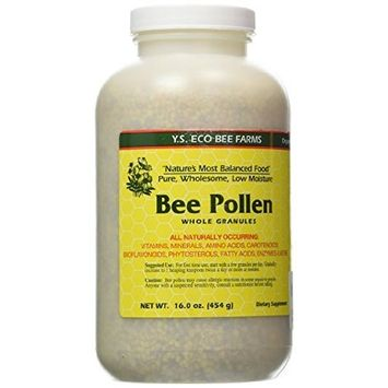 YS Eco Bee Farm Bee Pollen Whole Granules - 16 oz (Pack of 3)