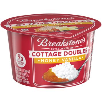 Breakstone's Cottage Doubles Honey Vanilla Cottage Cheese, 4.7 oz Cup
