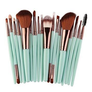 Creazy 18 pcs Makeup Brush Set tools Make-up Toiletry Kit Wool Make Up Brush Set