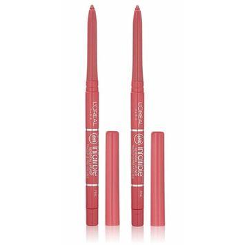 (2 Pack) L'Oréal Paris Colour Riche Never Fail Lip Liner, Pink, 0.009 oz : Beauty