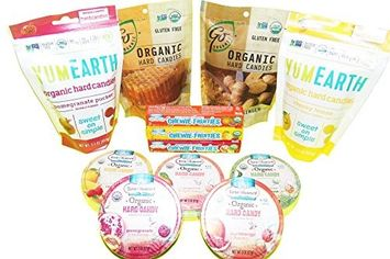 Organic Candy Variety Pack - ALL OF THE YUMMINESS WITH NONE OF THE JUNK! (Assorted Fruit, Large)