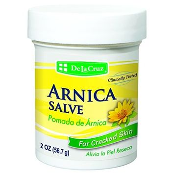 De La Cruz Arnica Salve for Cracked Skin/No Preservatives, Colors or Fragrances/Allergy Tested/Made in USA 2 OZ.