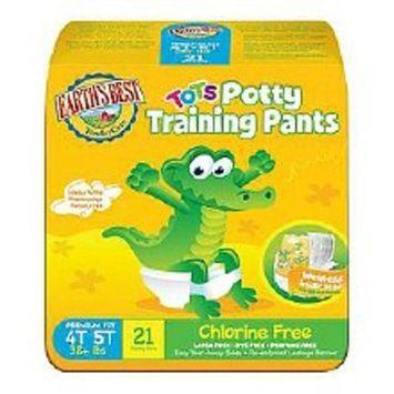 Earth's Best TenderCare Tots Training Pants Size 4T-5T, 21 ea 21.0ea