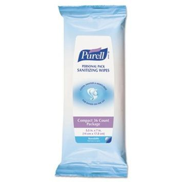 Premoistened Hand Sanitizing Wipes, White, Cloth, Ethyl Alcohol