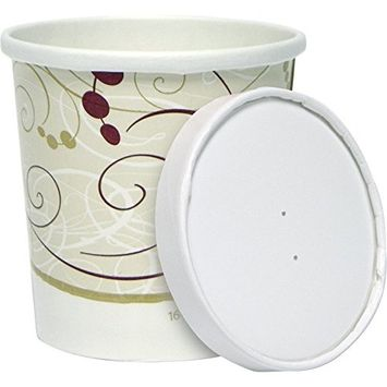Solo KHB16A-J8000 16 oz Symphony Paper Food Container and Lid (Case of 250 Containers w/Lids)
