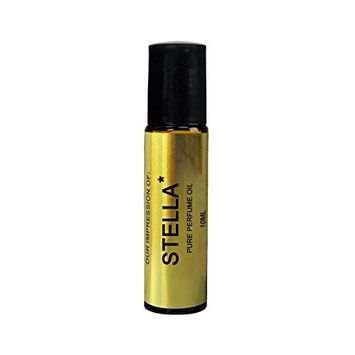 Superior Perfume Oil IMPRESSION with SIMILAR Accords to: -(ESTELLA)(WOMEN); Long Lasting 100% Pure No Alcohol Oil - Perfume Oil VERSION/TYPE; Not Original Brand (10ML ROLLER BOTTLE)