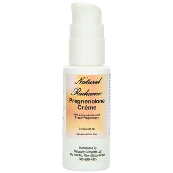 Natural Radiance Pregnenolone (Bioidentical) Crème 2 oz. Bottle (60 ml) Beneficial for slowing down the aging process. Fragrance-Free and Soy-Free