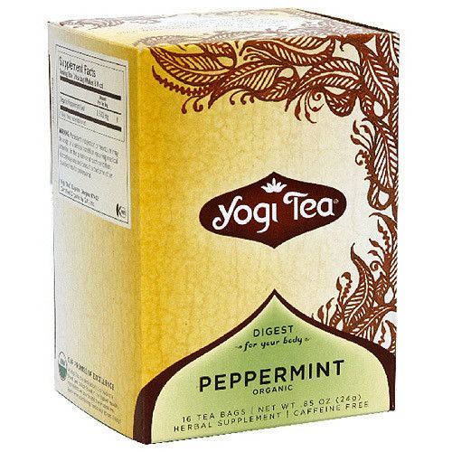 Yogi Purely Peppermint Tea, 16ct (Pack of 6)