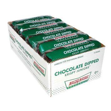 Krispy Kreme Chocolate Dipped Krispy Juniors Doughnuts (36 Ounce - Pack of 12)