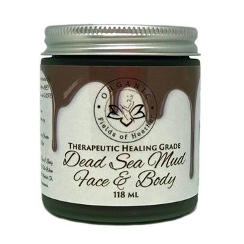 Organic Fields of Heather Purified 100% Dead Sea Mud For Face & Body Therapeutic Healing Grade, 4.0 fl.Oz