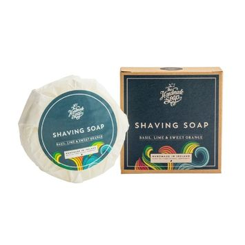 Basil Shaving Soap Bar Lime & Orange 3.8 Oz Irish Made The Handmade Soap Co.