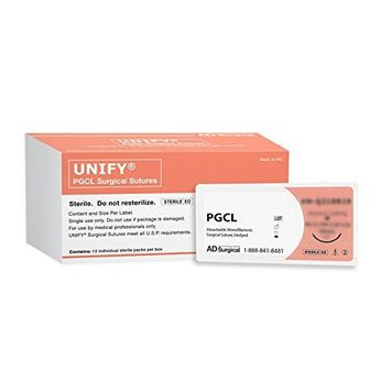 Unify Surgical PGCL Sutures. #M-Q430R19 Absorbable. Mono Undyed. Size 4/0. 30