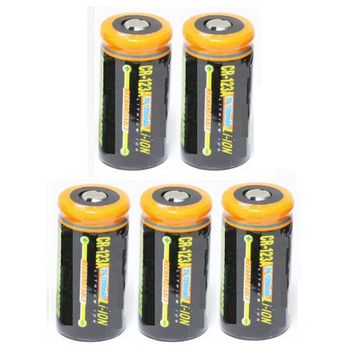 Ultimate Arms Gear 5 Pack CR123A 1200 mAh Lithium Rechargeable Batteries Battery For MAGLITE Flashlight Light Laser