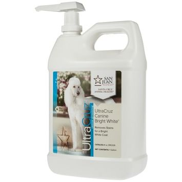 UltraCruz Dog Bright White Shampoo, 1 gallon