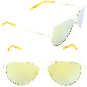 Polaroid PLD 8015/N J5G-LM Aviator Sunglasses Gold/Grey Gold Mirror Polarized Lens