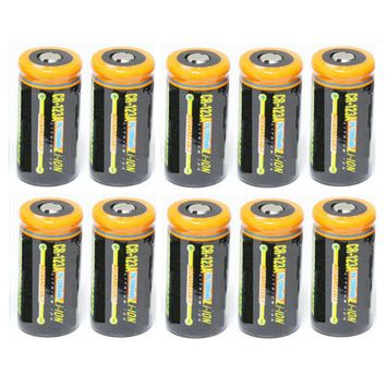 Ultimate Arms Gear 10 Pack CR123A 1200 mAh Lithium Rechargeable Batteries Battery For MAGLITE Flashlight Light Laser