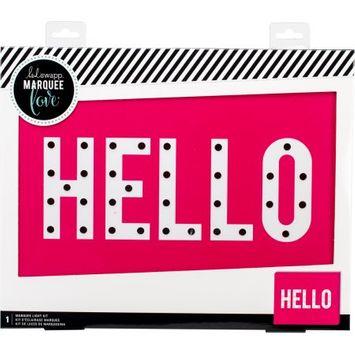 American Crafts Heidi Swapp Marquee Love Box-Hello 15