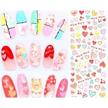 1 Pack Colorful Butterfly Nail Art Sticker Fingernails Watermark Water Transfer Nails Wrap Paint Tattoos Stamp Plates Templates Tools Tips Kits Pleasure Popular Stick Tool Vinyls Decals Kit, Type-06