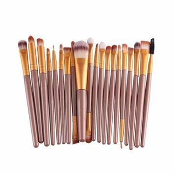 Hatop Makeup Brushes, 20 pcs/set Makeup Brush Set tools Make-up Toiletry Kit Wool Make Up Brush Set (G