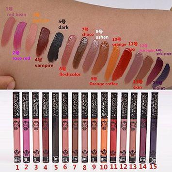 Liquid Lipstick Pen HUBEE Long Lasting Waterproof Lip Gloss Matte Velvet Lip Pencil For Women(15Colors/Set)