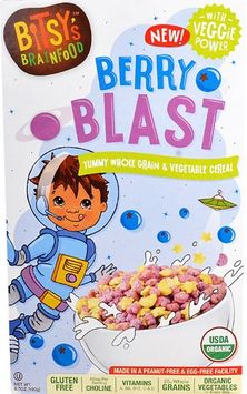 Bitsy's Brain Food Organic Gluten Free Cereal Green Berry Blast - 6.7 oz pack of 4