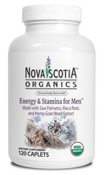 Nova Scotia Organics Energy and Stamina for Men Formula Caplet, 120 Ct