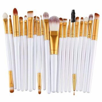 Creazy® 20 pcs Makeup Brush Set tools Make-up Toiletry Kit Wool Make Up Brush Set (Gold) by Creazydog